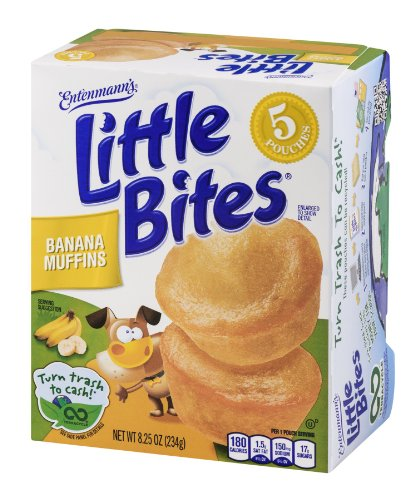 Entenmanns Little Bites Banana Muffin Pouches - 5 CT