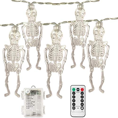 Halloween String Lights with Remote Control,6.5ft 20 LEDs,AA