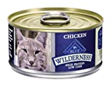 Blue Buffalo Wilderness Grain Free Canned Cat Food, Chicken Recipe (Pack of 24 3-Ounce Cans)