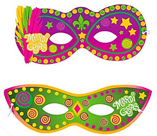 Paper Mardi Gras Masks (Paper Mardi Gras Mask Sticker Scenes)