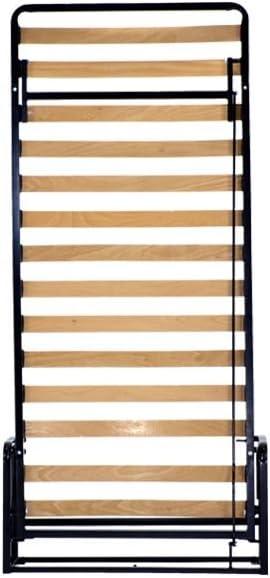 Cama individual horizontal abatible plegable de pared de Wallbedking, de 90 x 190 cm