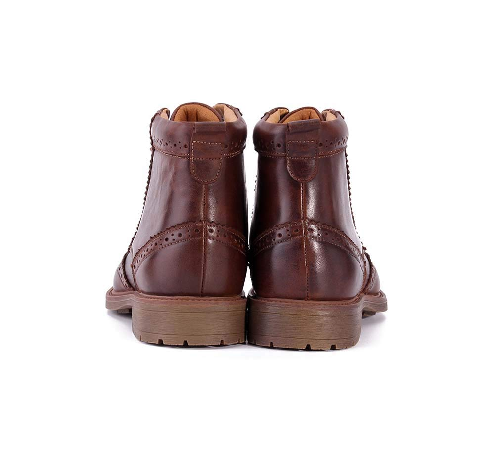 HYLFF HYLFF HYLFF Männer Martin Stiefel, Lace-up Bullock Geschnitzte Schuhe Western Pointed Toe Stiefel Cowboy Riding Ankle Slip On Stiefel Größes 38-44 5d1903