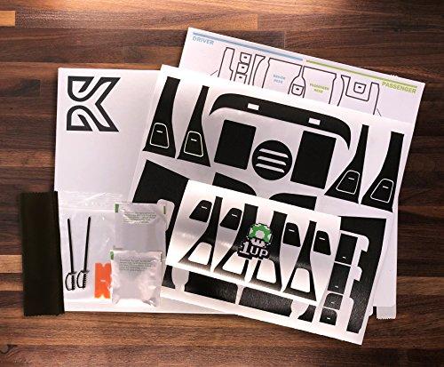 Kenriko Tesla Model 3 Black Brushed Metal Door Trim Wrap Kit ()