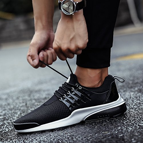 Trainers Sports Casual Black 36 Mesh Black Gym Women's Sneakers Men's Running 46 NEOKER Shoes qFgYIR