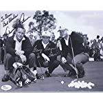 2cf8274a ARNOLD PALMER+GARY PLAYER HAND SIGNED 8x10 PHOTO VERY RARE TO DAVE - JSA  Certified.