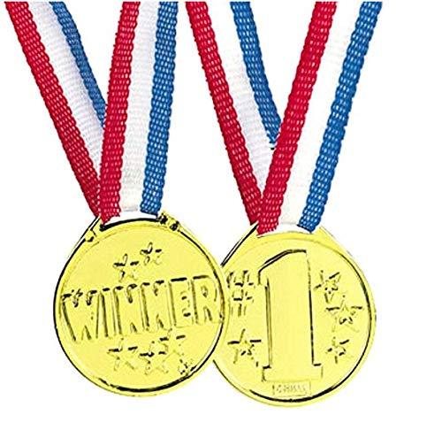 50 Piece Goldtone Plastic Award Winner Medal - BULK ()
