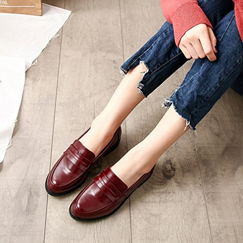 GIY Women's Classic Penny Loafers Slip-On Casual Low Flat Comfort Business Dress Oxford Shoes by GIY (Image #4)
