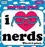 David and Goliath I Heart Nerds Mouse Pad