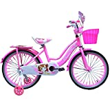 Kids Luxurious Bike / Bicycle For Boy's & Girls Pink & Orange Sizes 12' 16' 20' Led Effect Adjustable (Pink, 16')
