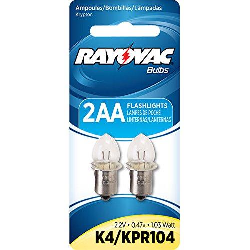 Rayovac 620-K4-2 2 Aa Krypton Bulbs Carded