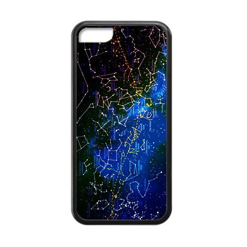 Customize Vintage Universe Galaxy Nebula Constellation Design Case Cover for iPhone5C (Note 3 Manchester United Case)