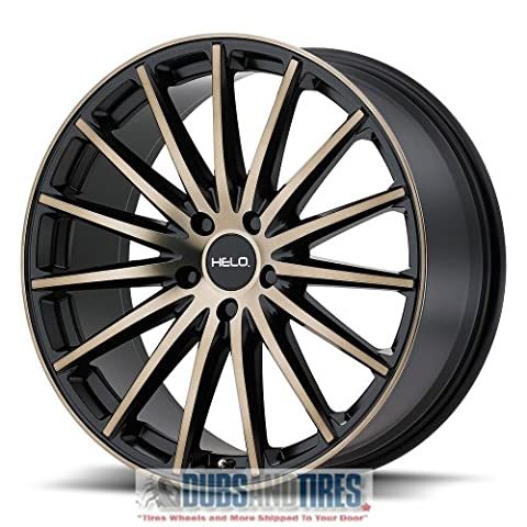 Helo HE894 Black with Machined Face & Tinted Clear Wheel with Machined Finish - Helo Custom Wheels