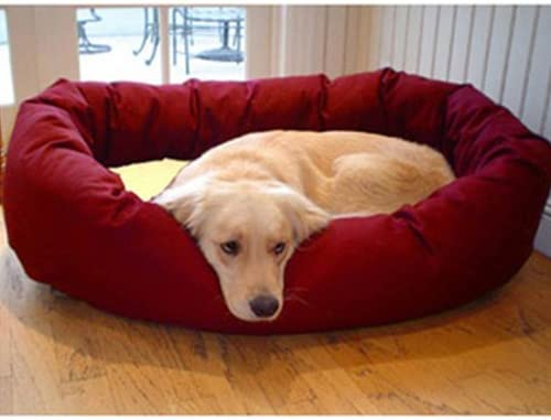 Majestic Pet 36 x 52 Bagel Dog Bed, X-Large, Burgundy Sherpa