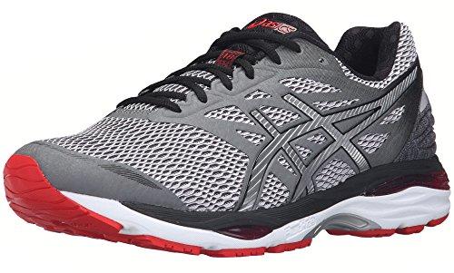 ASICS Men's Gel-Cumulus 18 Running Shoe, Carbon/Silver/Vermilion, 10 M US by ASICS