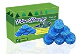Premium Urinal Cakes 12 Pack | Individually Wrapped and Packaged for Cleanliness | Pine Forest Scent | Long Lasting 500 Flushes | by Pine Breeze Janitorial Products