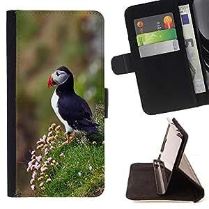 - Man walking - - Monedero pared Design Premium cuero del tir?n magn?tico delgado del caso de la cubierta pata de ca FOR HTC One M7 Funny House