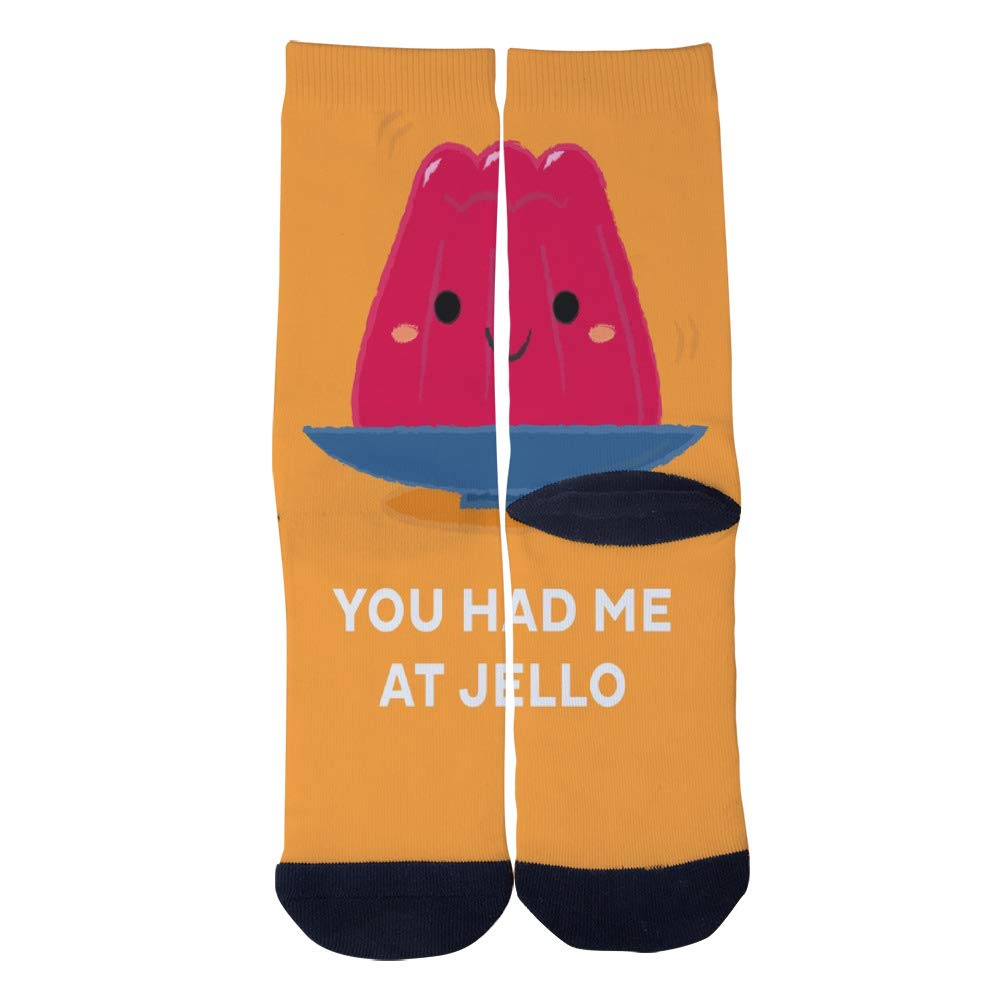 Funny Jello Socks Mens Womens Personality Casual Socks Custom Sports Socks Creative Fashion Crew Socks