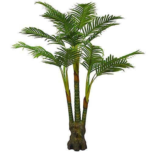 Artificial Palm Plant for Office House Decor 5.35-Feet Indoor Outdoor Silk Green Tree,Saty Upright Without Pot(804#)