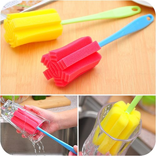 Money coming shop Hot sale Cup Brush Kitchen Cleaning Tool Sponge Brush For Wineglass Bottle Coffe Tea Glass Cup Mug Free Shipping 1 pc