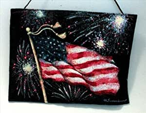 Manual Woodworkers and Weavers IOFOFW Fireworks Woven Fiber Optic Wall Hanging Horizontal 18 X 13 in.
