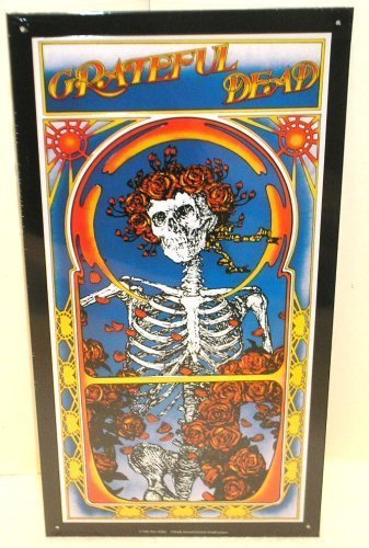 Grateful Dead Skeleton and Roses Tin Sign