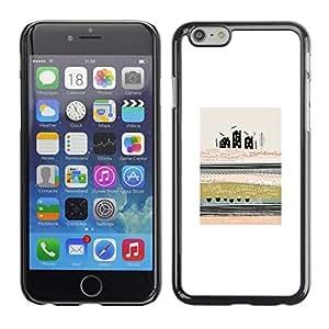 FECELL CITY // Duro Aluminio Pegatina PC Caso decorativo Funda Carcasa de Protección para Apple Iphone 6 Plus 5.5 // Abstract Modern Art City Field Meaning