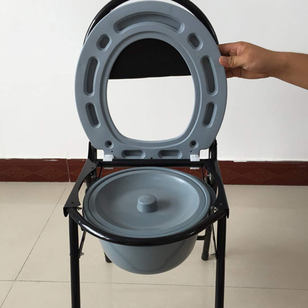 Amazon.com: Ibnotuiy - Asiento de inodoro plegable de acero ...