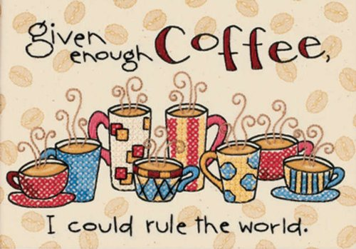 (Dimensions Mini Stamped Cross Stitch Kit (7 X 5 Inches) - Enough Coffee)