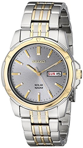 (Seiko Men's SNE098 Two-Tone Stainless Steel Watch)