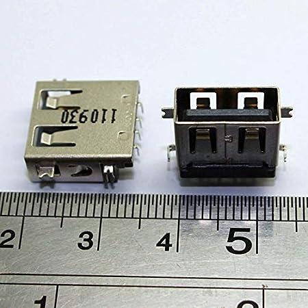 Cable Length: 20 pcs 100pcs 2.0 USB Jack Connector for Acer V5-572G V5-573G HP Mini 210 Asus Lenovo HP etc USB Socket Port Cables 2pcs