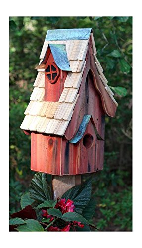 Heartwood 231A Boyds' Bungalow Bird House in Redwood Finish (Redwood Cypress Birdhouse)