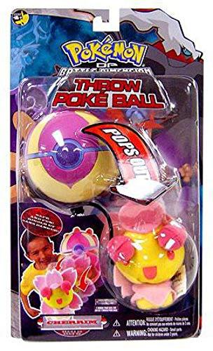 (Pokemon Toy Plush Throw Poke Ball Diamond and Pearl Series 6 Cherrim)