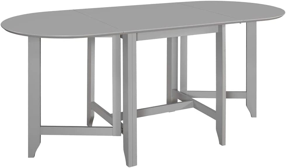 vidaXL Extendable Dining Table Space-saving Square Home Kitchen Breakfast Dining Room Dinner Stand Desk Furniture Grey 75-180cm MDF