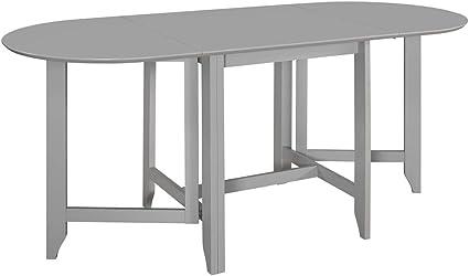 80-120 x80x74 cm in MDF e Legno di Hevea Bianco vidaXL Tavolo da Pranzo Estensibile Pratico Allungabile Rustico Arredo Cucina Bianco