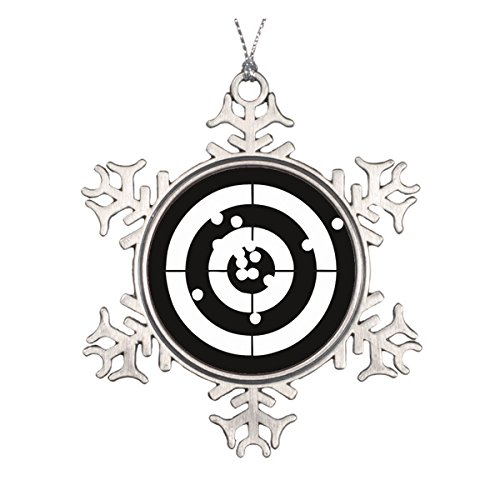 Target Practice Ceramic Round Christmas Ornament Old Fashioned Beaded Christmas Ornaments