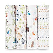 aden + anais Classic Sawddle 4 Pack, Paper Tales