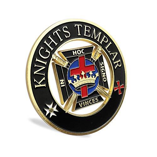 Masonic Knights Templar Car Emblem Auto Decal ()