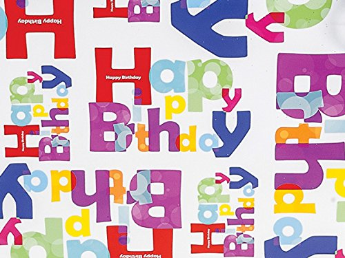 Pack Of 1, Another Birthday 24'' X 417' Roll Gift Wrap For 175 -200 Gifts Made In USA by Generic