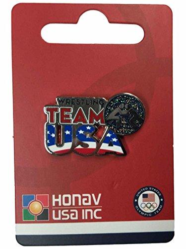 2020 Summer Olympics Tokyo Japan Team USA Wrestling Pictogram Metal Lapel - Olympic Wrestling Pin