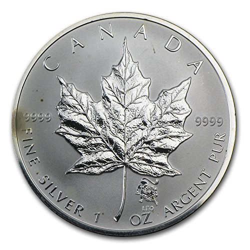 1988 CA - Present Canadian 1 oz Silver Maple Leaf Privy (Abrasions, Spotted) 1 OZ Very - Maple Canadian Silver Leaf