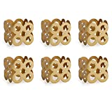 DII Contemporary Chic Napkin Rings for Dinner Parties, Weddings Receptions, Family Gatherings, or Everyday Use, Set Your Table With Style - Die Cut Gold Square, Set of 6
