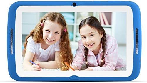 Niños Tablet 7 Pulgadas, Android 7.1 OS, iwawa pre-installed, Pantalla táctil, 1 GB de RAM, 8 GB de memoria, WiFi, Bluetooth, Dual de cámara con kindgerechte funda de silicona(azul)