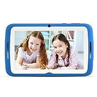 Tablet per bambini 7 pollici, Android 7.1 OS, iWawa Pre-Installed, Quad Core, HD Touch Screen, 1 GB RAM, 8 GB di memoria, Wifi, Bluetooth, doppia fotocamera con custodia in silicone per bambini (Blu)