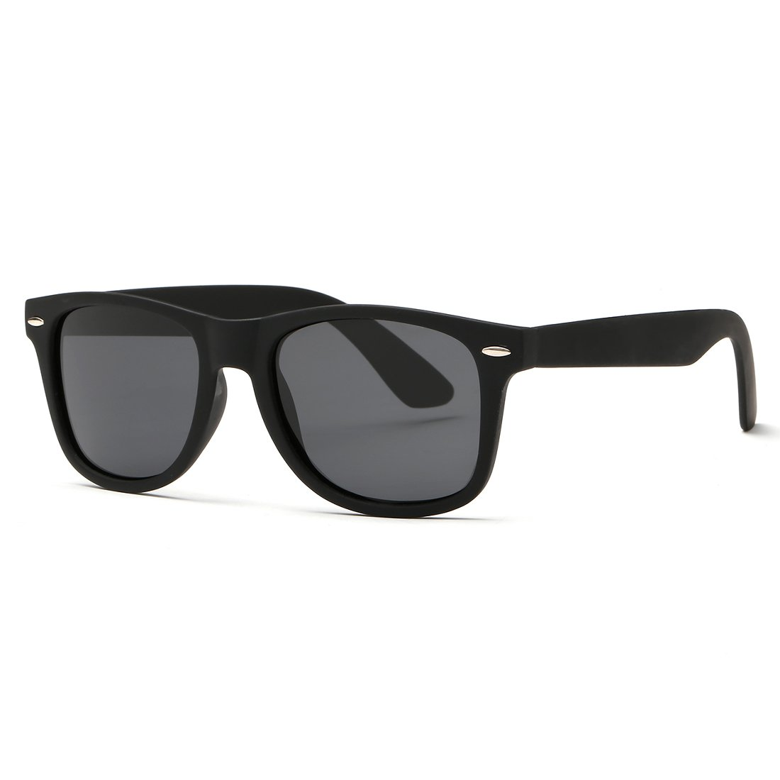 97afcf23a56 Kimorn Polarized Sunglasses Classic Unisex Horn Rimmed 80 s Retor Eyewear  AE0300 (Black