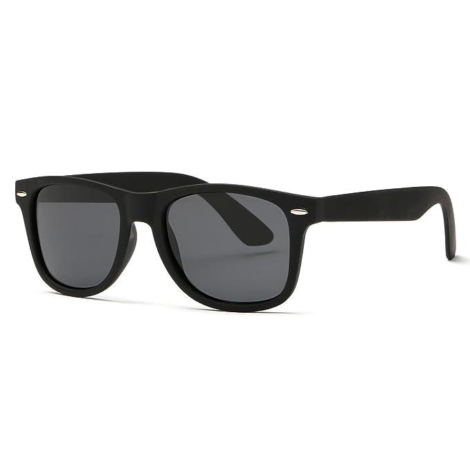 14eb21d47f Kimorn Polarized Sunglasses Classic Unisex Horn Rimmed 80 s Retor Eyewear  AE0300 (Black