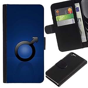 Billetera de Cuero Caso del tirón Titular de la tarjeta Carcasa Funda del zurriago para Apple Iphone 6 4.7 / Business Style Male Man Sign