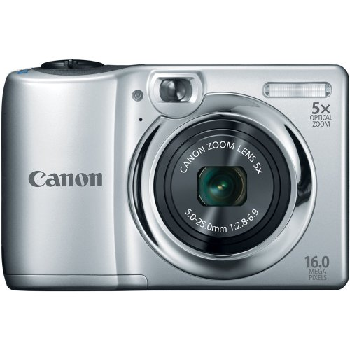 Canon PowerShot A1300 16.0 MP Digital Camera with 5x Digital Image Stabilized Zoom 28mm Wide-Angle Lens and 720p HD…