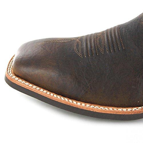 Fb Moda Stivali Ariat 23151 Catalizzatore Più Bisonte Beige Western Stivali Da Equitazione Per Uomo Marrone Bisonte Beige