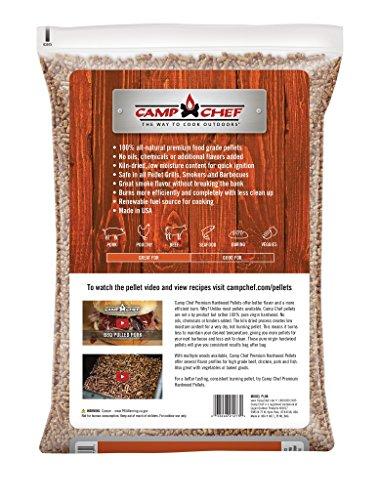 Camp Chef PLHK Bag of Premium Hardwood Hickory Pellets for Smoker, 20 lb.