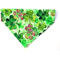 3 Leaf Large Clover Shamrock No Tie Slip On Dog Bandana St Patrick's Day Neckwear
